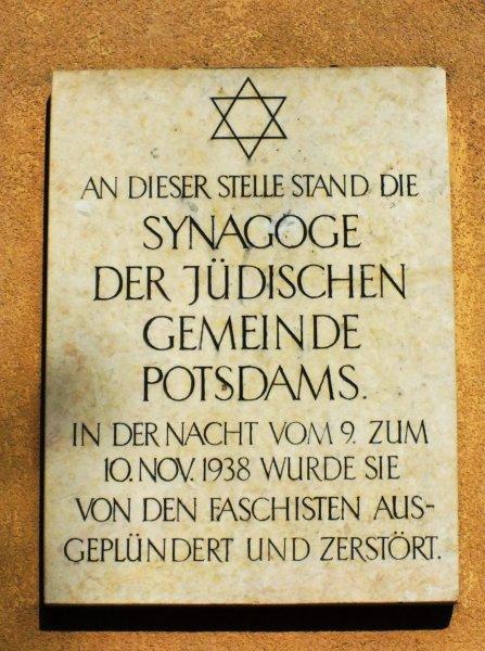 Rundgang Jüdische Gemeinde Potsdam: Station 6 - Standort ehemalige Synagoge