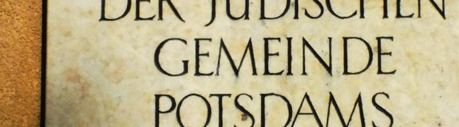 Gedenktafel für die Alte Synagoge Potsdam