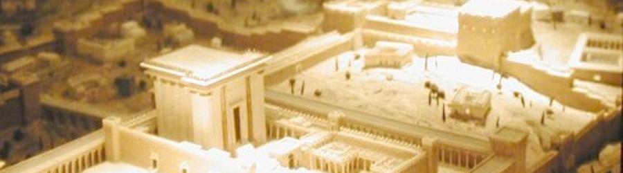 Modell des Tempels in Jerusalem (Foto: Jona Lendering)